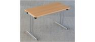 Fumac Konferencebord 120 x 60 cm. med krom stel. Fås med bordplade i ahorn - bøg - hvid og grå Decor laminat.