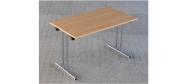 Fumac Konferencebord 120 x 70 cm. med krom stel. Fås med bordplade i ahorn - bøg - hvid og grå Decor laminat.