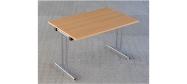 Fumac Konferencebord 120 x 80 cm. med krom stel. Fås med bordplade i ahorn - bøg - hvid og grå Decor laminat.