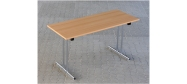 Fumac Konferencebord 140 x 60 cm. med krom stel. Fås med bordplade i ahorn - bøg - hvid og grå Decor laminat.