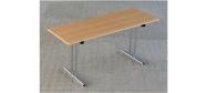 Fumac Konferencebord 160 x 60 cm. med krom stel. Fås med bordplade i ahorn - bøg - hvid og grå Decor laminat.