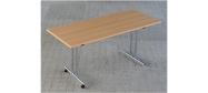 Fumac Konferencebord 160 x 70 cm. med krom stel. Fås med bordplade i ahorn - bøg - hvid og grå Decor laminat.