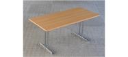 Fumac Konferencebord 160 x 80 cm. med krom stel. Fås med bordplade i ahorn - bøg - hvid og grå Decor laminat.