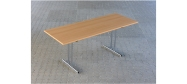 Fumac Konferencebord 180 x 70 cm. med krom stel. Fås med bordplade i ahorn - bøg - hvid og grå Decor laminat.