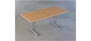 Fumac Konferencebord 180 x 80 cm. med krom stel. Fås med bordplade i ahorn - bøg - hvid og grå Decor laminat.