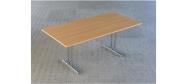 Fumac Konferencebord 180 x 90 cm. med krom stel. Fås med bordplade i ahorn - bøg - hvid og grå Decor laminat.