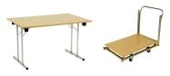 Konferencebord 80 x 120 cm. Spar mange penge ved selv at samle bordene. Bordet få i bøg - ahorn - grå - hvid.