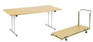 Konferencebord 80 x 180 cm. Spar mange penge ved selv at samle bordene. Bordet få i bøg - ahorn - grå - hvid.