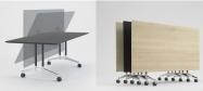 Konferenceborde Contact er et solidt konferencebord, hvor bordpladen kan vippes.