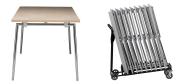 Konferenceborde Quicly er et eksklusivt og konferencebord, som ikke fylder meget i sammenklappet tilstand.