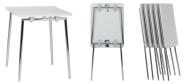 Konferenceborde Quicly Mini er et eksklusivt konferencebord, som ikke fylder meget i sammenklappet tilstand.