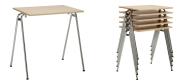 Konferenceborde Stack er et billigt konferencebord, som er ideel at anvende der hvor bordene ofte omrokkeres, eller opmagasineres.